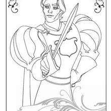 Príncipe Edward para colorear - Dibujos para Colorear y Pintar - Dibujos DISNEY para colorear - Dibujos para pintar DISNEY - Dibujos para colorear ENCANTADA