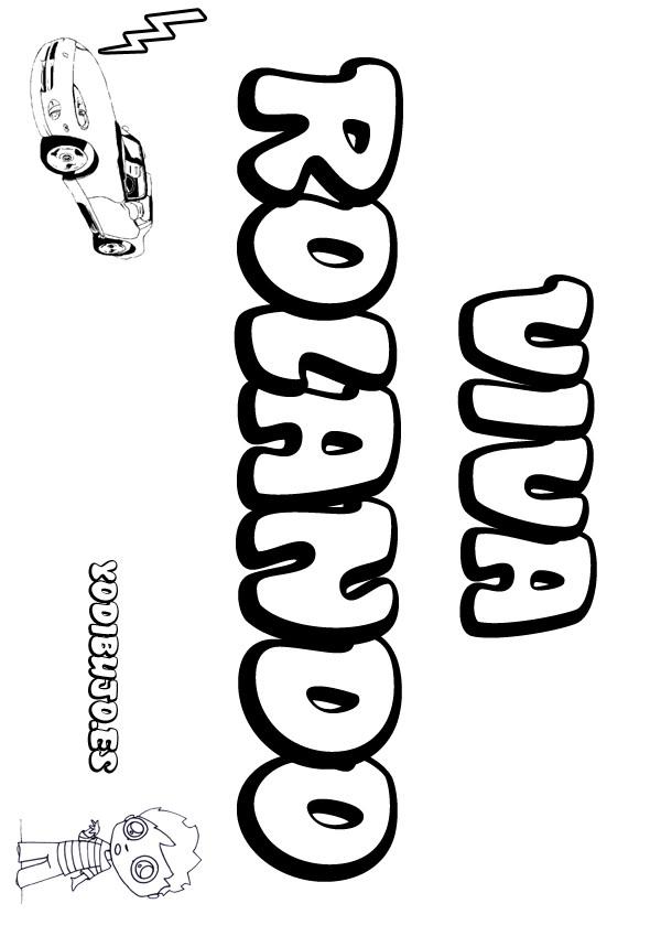 Nombre de niño para colorear : ROLANDO