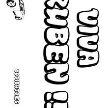 Nombre de niño para colorear : RUBEN