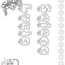 SELENA LUCIA colorear nombres niñas - Dibujos para Colorear y Pintar - Dibujos para colorear NOMBRES - Dibujos para colorear NOMBRES NIÑAS