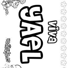 YAEL colorear nombres niñas - Dibujos para Colorear y Pintar - Dibujos para colorear NOMBRES - Dibujos para colorear NOMBRES NIÑAS