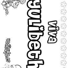 YULIBETH colorear nombres niñas - Dibujos para Colorear y Pintar - Dibujos para colorear NOMBRES - Dibujos para colorear NOMBRES NIÑAS