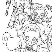 Las brujas hechiceras - Dibujos para Colorear y Pintar - Dibujos para colorear MANGA - Dibujos para colorear MAGICAL DOREMI - Dibujos para colorear de MAGICAL DOREMI ESPAÑOL