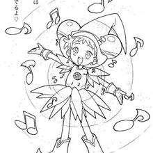 Magical Doremi cantante - Dibujos para Colorear y Pintar - Dibujos para colorear MANGA - Dibujos para colorear MAGICAL DOREMI - Dibujos para colorear de MAGICAL DOREMI ESPAÑOL