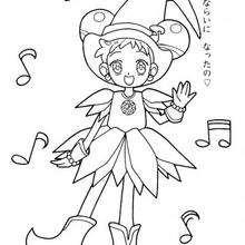 Música Magical Doremi - Dibujos para Colorear y Pintar - Dibujos para colorear MANGA - Dibujos para colorear MAGICAL DOREMI - Dibujos para colorear de MAGICAL DOREMI ESPAÑOL