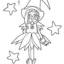 Hazuki la bruja - Dibujos para Colorear y Pintar - Dibujos para colorear MANGA - Dibujos para colorear MAGICAL DOREMI - Dibujos para colorear MAGICAL DOREMI CAPITULO
