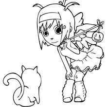 Dibujo de Angel - Dibujos para Colorear y Pintar - Dibujos para colorear FIESTAS - Dibujos para colorear HALLOWEEN - Dibujos para colorear DISFRACES HALLOWEEN NIÑOS