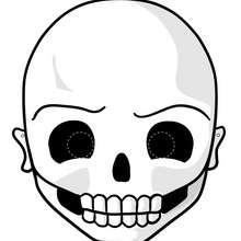 Manualidad infantil : Máscara de calavera