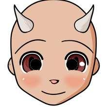 Manualidad infantil : Máscara de diablito