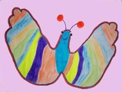 Dibujar una mariposa - Dibujar Dibujos - Aprender cómo dibujar paso a paso - Dibujar dibujos ANIMALES - Dibujar animales CON TU MANO