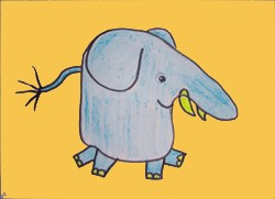 Dibujar un elefante - Dibujar Dibujos - Aprender cómo dibujar paso a paso - Dibujar dibujos ANIMALES - Dibujar animales CON TU MANO