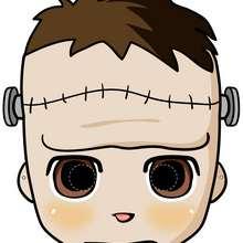 Máscara de Frankenstein - Manualidades para niños - MASCARAS infantiles - Mascaras Halloween para niños