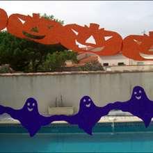 Manualidad infantil : Acordeones Fantasma y Calabaza