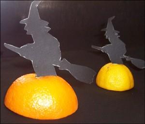 Manualidad infantil : Las brujas de mesa
