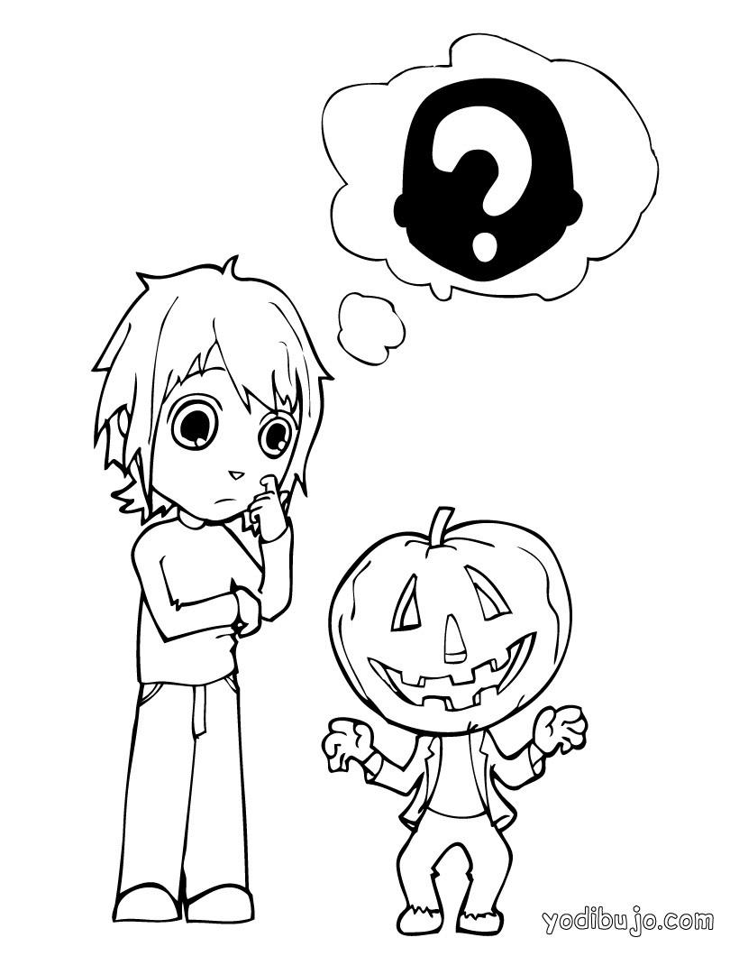 Dibujos para colorear calabaza para halloween - Calabazas para imprimir ...