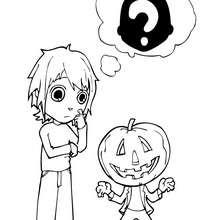 Dibujo de calabaza para Halloween - Dibujos para Colorear y Pintar - Dibujos para colorear FIESTAS - Dibujos para colorear HALLOWEEN - CALABAZAS HALLOWEEN  para colorear