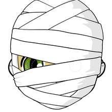 Manualidad infantil : Máscara de momia