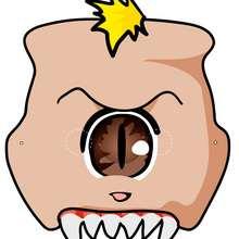 Máscara de monstruo - Manualidades para niños - MASCARAS infantiles - Mascaras Halloween para niños