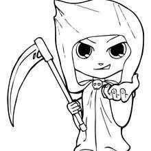 Dibujo de La Muerte de Halloween - Dibujos para Colorear y Pintar - Dibujos para colorear FIESTAS - Dibujos para colorear HALLOWEEN - Dibujos para colorear LA MUERTE HALLOWEEN