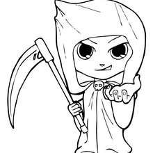Dibujo para colorear : La Muerte de Halloween