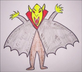 Dibujar Halloween - un vampiro - Aprender a DIBUJAR - Aprender cómo dibujar paso a paso - Dibujar dibujos FIESTAS DEL AÑO - Dibujar dibujos HALLOWEEN
