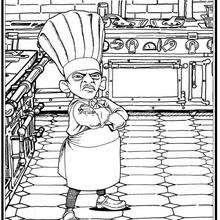Dibujo para colorear : chef Skinner