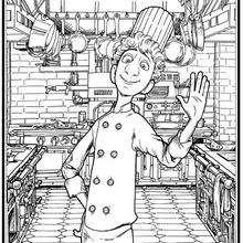 Dibujo de Linguini el cocinero - Dibujos para Colorear y Pintar - Dibujos DISNEY para colorear - Dibujos para colorear ANIMALES DISNEY - Dibujos para colorear RATATOUILLE