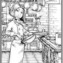 Dibujo para colorear : Colette la cocinera