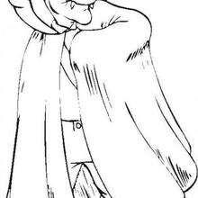 Dibujo del conde Dracula - Dibujos para Colorear y Pintar - Dibujos para colorear FIESTAS - Dibujos para colorear HALLOWEEN - Dibujos para colorear VAMPIRO HALLOWEEN