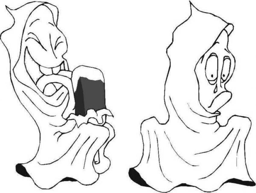 Dibujos Para Colorear Fantasma De Halloween Y Calabaza Es