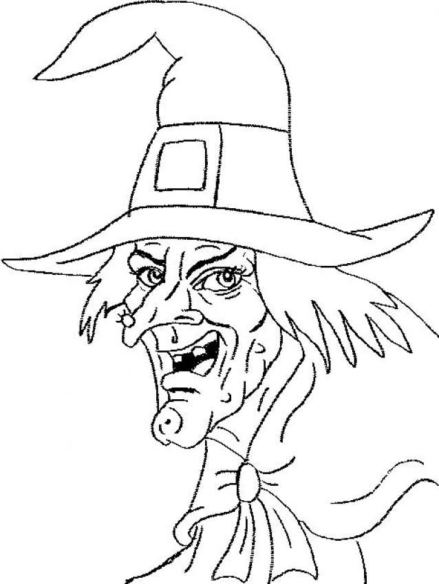 Dibujos de Brujas para colorear - 71 brujas de Halloween para pintar