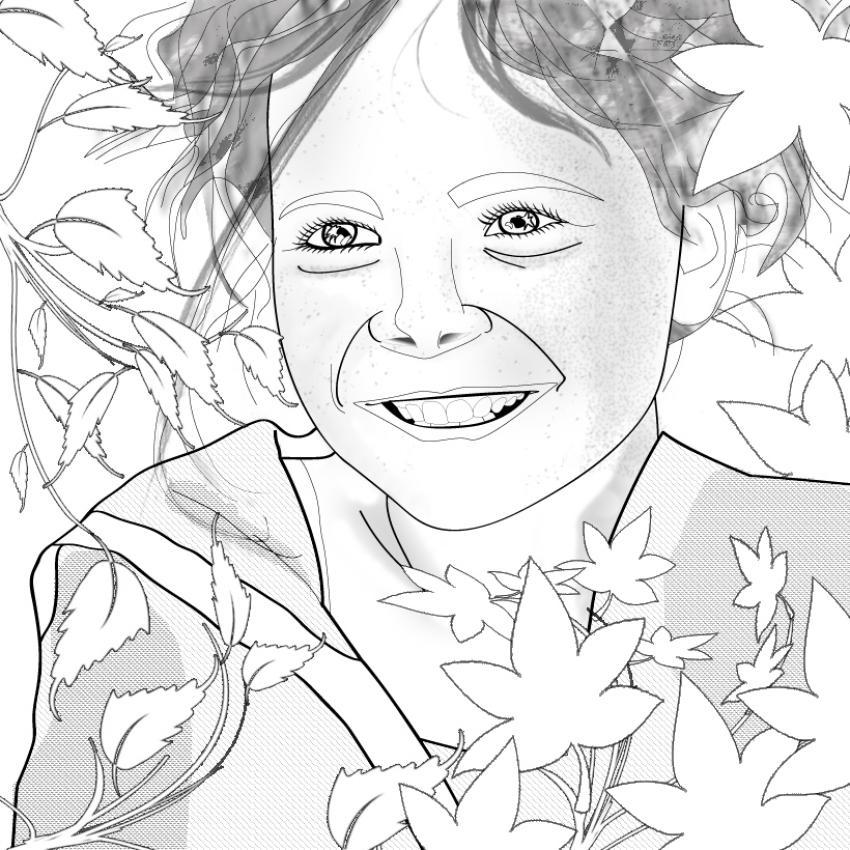 Dibujos para colorear la niña - es.hellokids.com