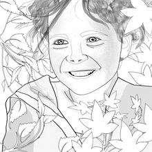 Dibujo para colorear : la niña