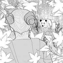 oso con la niña