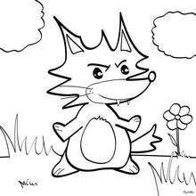 Dibujo para colorear : Retrato de un zorro