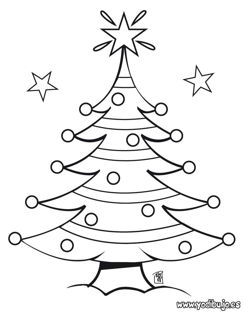 dibujos para colorear arbol de navidad con estrellas eshellokidscom - Dibujo Arbol De Navidad
