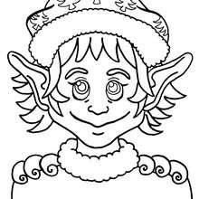 Dibujo de un ayudante del Papá Noel - Dibujos para Colorear y Pintar - Dibujos para colorear FIESTAS - Dibujos para colorear de NAVIDAD - Dibujos de AYUDANTES DE NAVIDAD para colorear