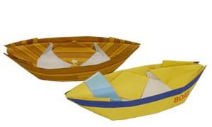 Origami barco de papel
