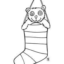 dibujo de la bota de regalos - Dibujos para Colorear y Pintar - Dibujos para colorear FIESTAS - Dibujos para colorear de NAVIDAD - Colorear dibujos REGALOS DE NAVIDAD