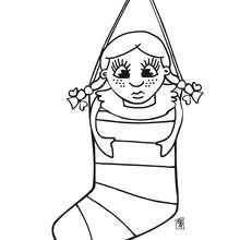 dibujo de la bota de regalos navideños - Dibujos para Colorear y Pintar - Dibujos para colorear FIESTAS - Dibujos para colorear de NAVIDAD - Colorear dibujos REGALOS DE NAVIDAD