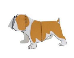 Actividades Manuales De Perro Papel Bulldog 2d
