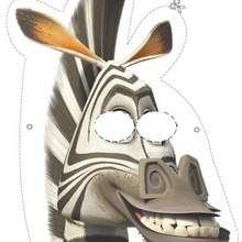 Careta de Marty la cebra - Manualidades para niños - MASCARAS infantiles - Caretas y máscaras de Madagascar 2