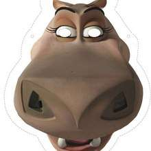 Manualidad infantil : Careta de Gloria la hipopótamo