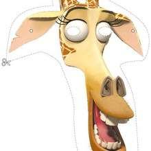 Manualidad infantil : Careta de Melman la jirafa