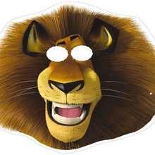 Manualidad infantil : Careta de Alex el león