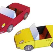 Manualidad infantil : Papiroflexia coche