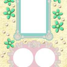 Flores verdes - Manualidades para niños - Manualidades infantiles - Fabricar MARCOS DE FOTOS - Cumpleaños: Marcos de fotos