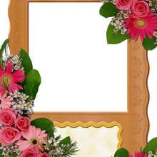 Rosas y flores - Manualidades para niños - Manualidades infantiles - Fabricar MARCOS DE FOTOS - Cumpleaños: Marcos de fotos