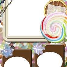Caramelos y chocolate - Manualidades para niños - Manualidades infantiles - Fabricar MARCOS DE FOTOS - Cumpleaños: Marcos de fotos