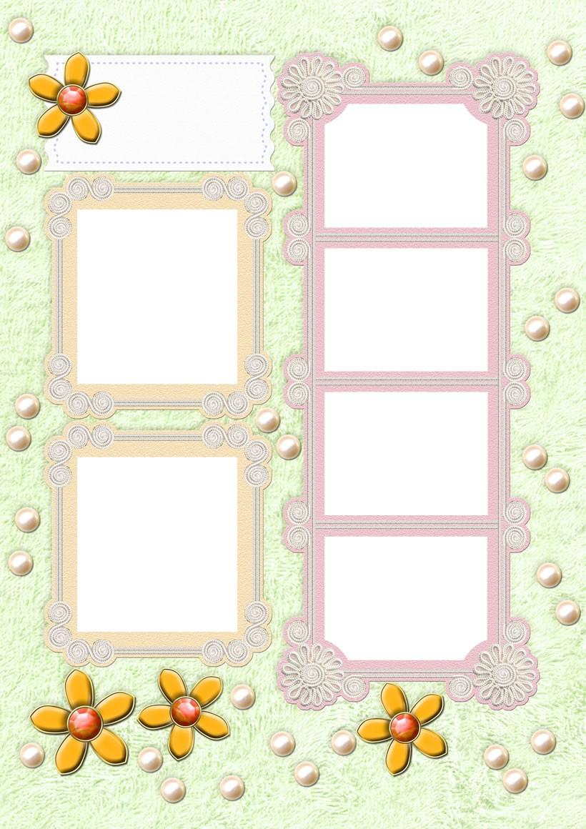 Actividades manuales de flores amarillas - Marcos de papel para fotos ...